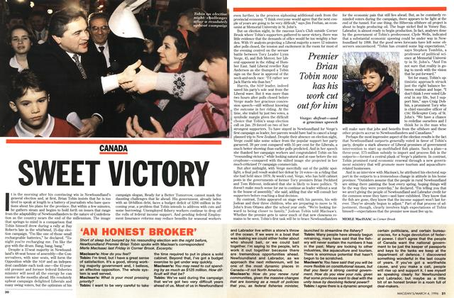 Article Preview: SWEET VICTORY, March 1996 | Maclean's