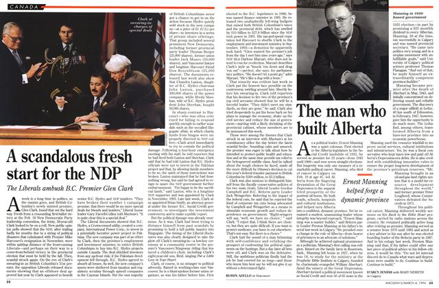 Article Preview: A scandalous fresh start for the NDP, March 1996 | Maclean's