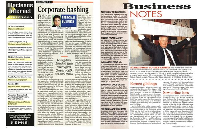 Article Preview: Corporate bashing, March 1996 | Maclean's