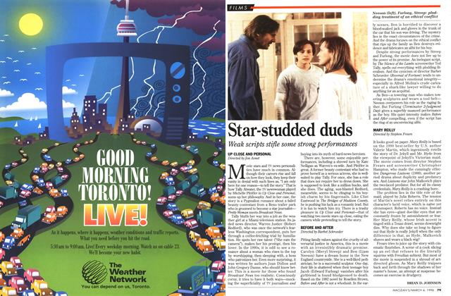 Article Preview: Star-studded duds, March 1996 | Maclean's