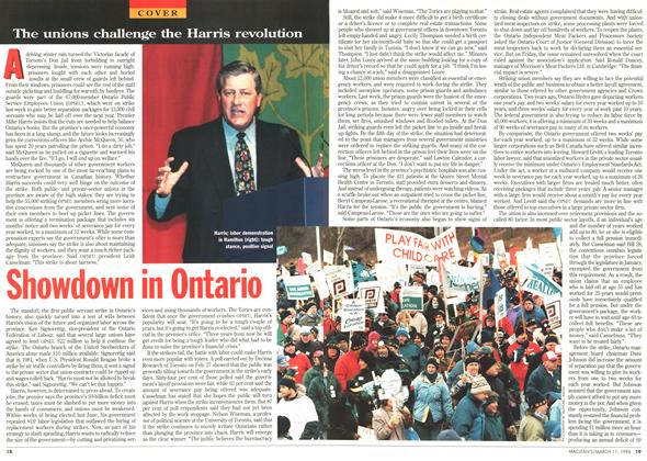 Article Preview: Showdown in Ontario, March 1996 | Maclean's