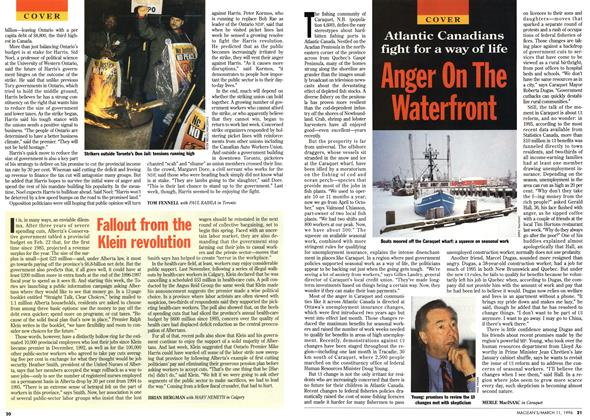 Article Preview: Anger On The Waterfront, March 1996 | Maclean's