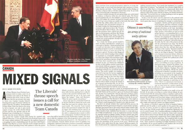 Article Preview: MIXED SIGNALS, March 1996 | Maclean's