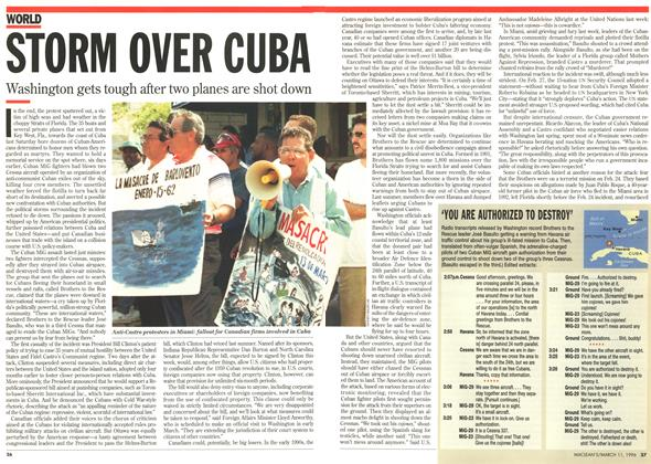 Article Preview: STORM OVER CUBA, March 1996 | Maclean's