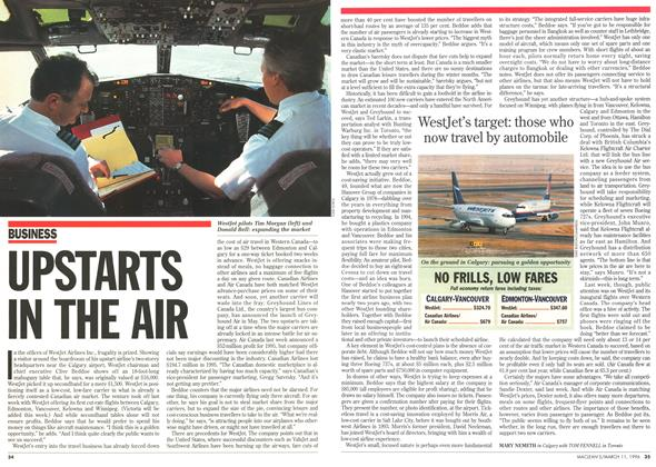 Article Preview: UPSTARTS IN THE AIR, March 1996 | Maclean's