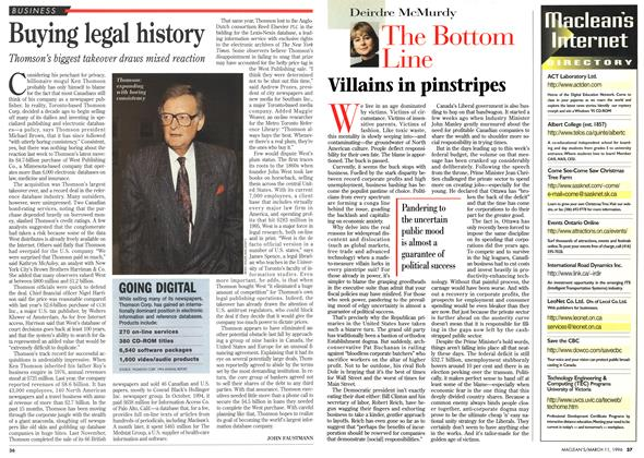 Article Preview: Buying legal history, March 1996 | Maclean's