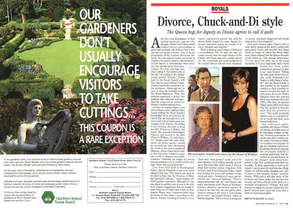 Article Preview: Divorce, Chuck-and-Di style, March 1996 | Maclean's