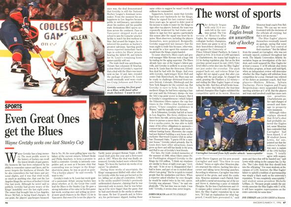 Article Preview: Even Great Ones get the Blues, March 1996 | Maclean's