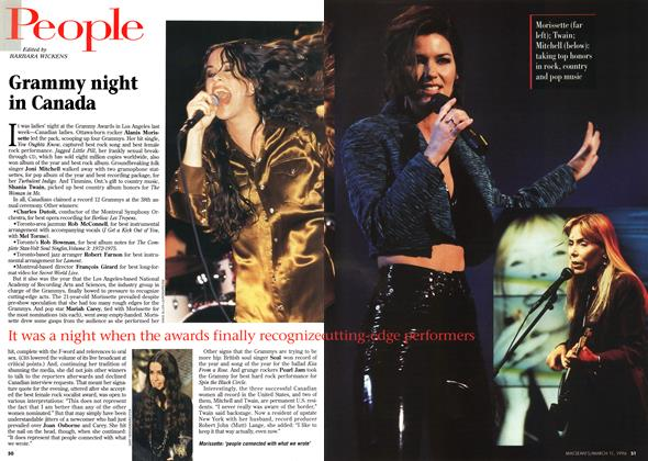 Article Preview: People, March 1996 | Maclean's