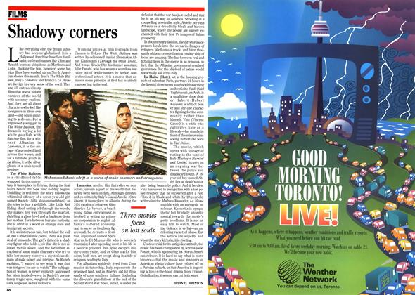Article Preview: Shadowy corners, March 1996   Maclean's