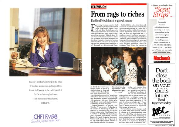Article Preview: From rags to riches, March 1996 | Maclean's