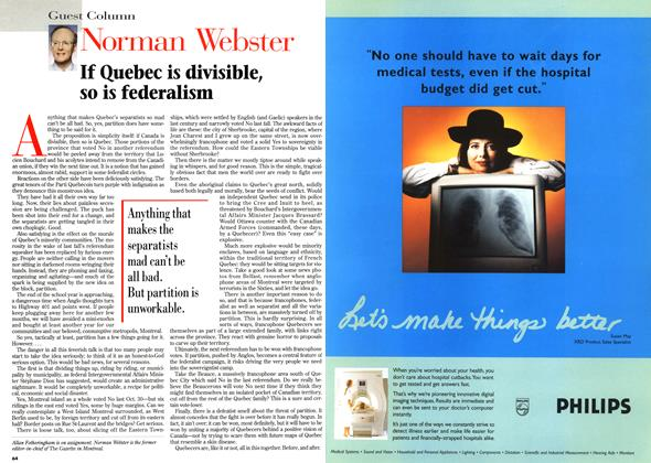Article Preview: Norman Webster, March 1996 | Maclean's