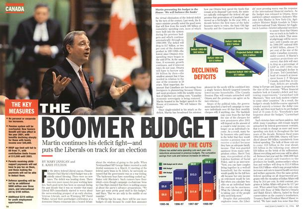 Article Preview: THE BOOMBER BUDGET, MARCH 18,1996 1996 | Maclean's