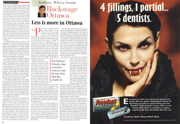 Article Preview: Less is more in Ottawa, MARCH 18,1996 1996 | Maclean's