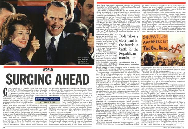 Article Preview: SURGING AHEAD, MARCH 18,1996 1996 | Maclean's