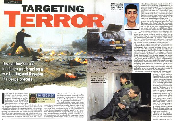 Article Preview: TARGETING TERROR, MARCH 18,1996 1996 | Maclean's