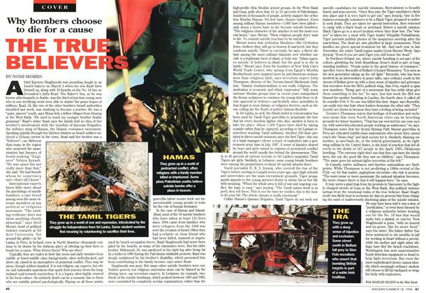 Article Preview: THE TRUE BELIEVERS, MARCH 18,1996 1996 | Maclean's