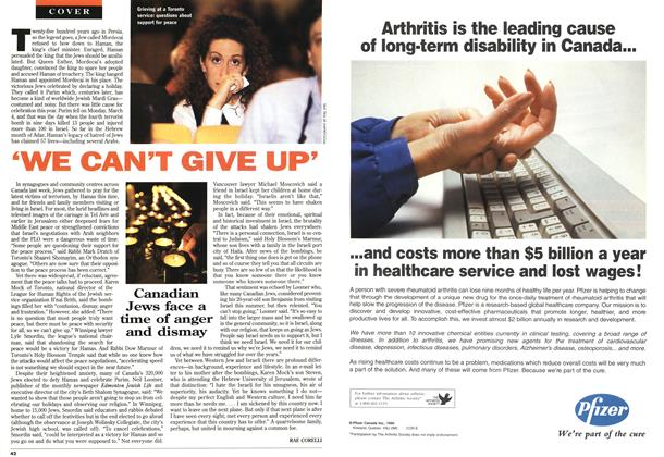 Article Preview: 'WE CAN'T GIVE UP', MARCH 18,1996 1996 | Maclean's