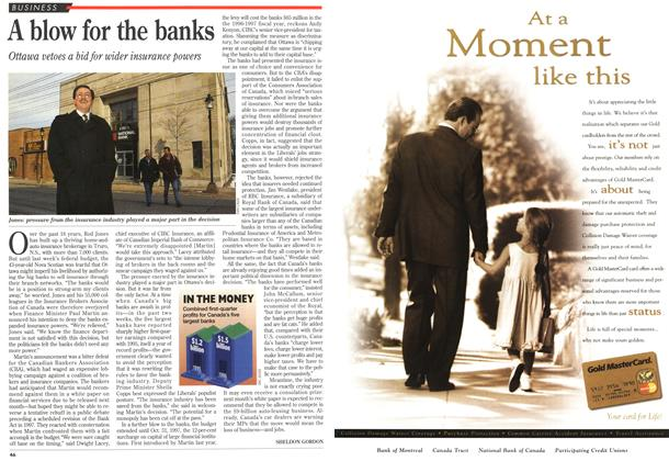 Article Preview: A blow for the banks, MARCH 18,1996 1996 | Maclean's