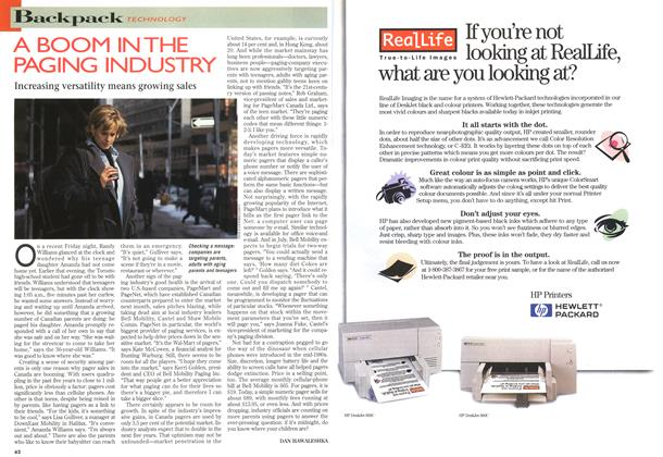 Article Preview: A BOOM IN THE PAGING INDUSTRY, MARCH 18,1996 1996 | Maclean's