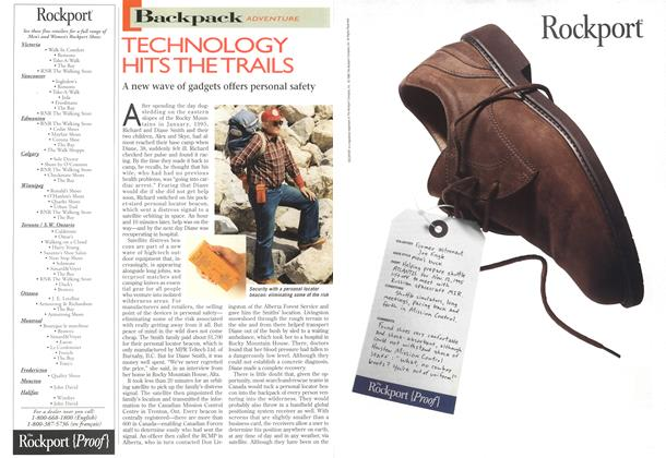 Article Preview: TECHNOLOGY HITS THE TRAILS, MARCH 18,1996 1996 | Maclean's