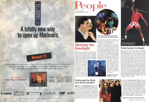 Article Preview: People, MARCH 18,1996 1996 | Maclean's