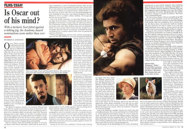 Article Preview: Is Oscar out of his mind?, MARCH 18,1996 1996 | Maclean's