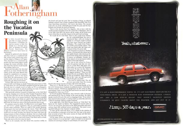 Article Preview: Roughing it on the Yucatán Peninsula, MARCH 18,1996 1996 | Maclean's
