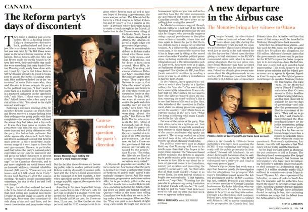 Article Preview: The Reform party's days of discontent, March 1996 | Maclean's