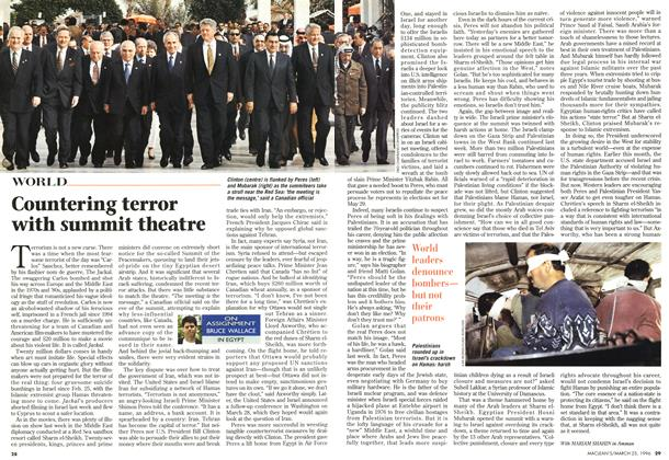 Article Preview: Countering terror with summit theatre, March 1996 | Maclean's