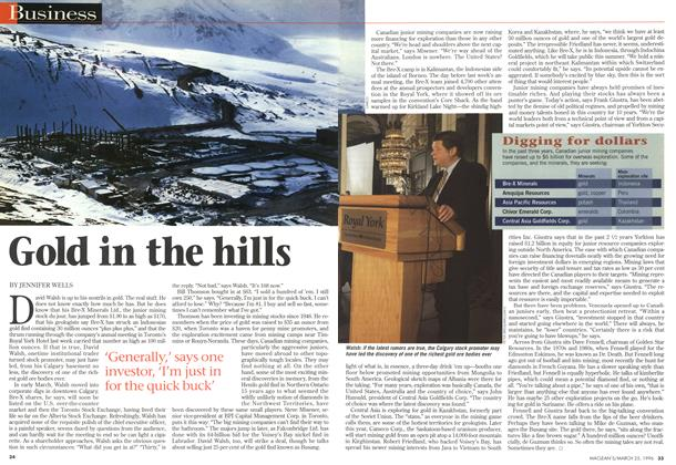 Article Preview: Gold in the hills, March 1996 | Maclean's