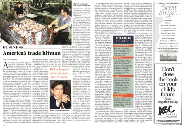 Article Preview: America's trade hitman, March 1996 | Maclean's