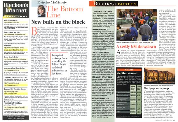 Article Preview: New bulls on the block, March 1996 | Maclean's