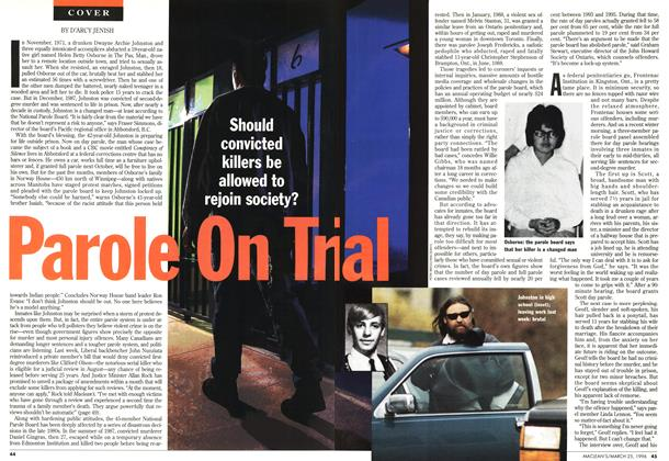 Article Preview: Parole On Trial, March 1996 | Maclean's
