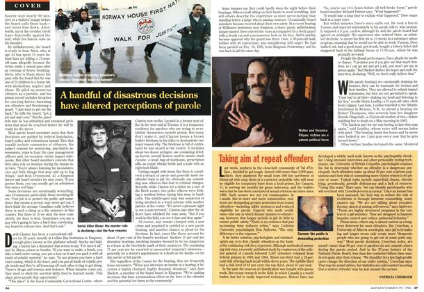 Article Preview: Taking aim at repeat offenders, March 1996 | Maclean's