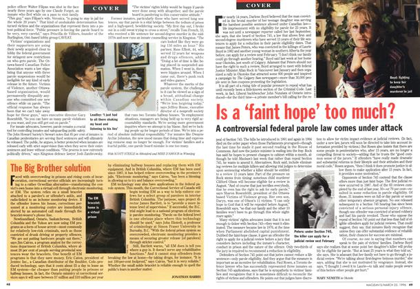 Article Preview: The Big Brother solution, March 1996 | Maclean's