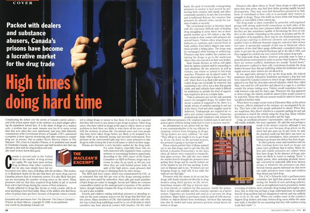 Article Preview: High times doing hard time, March 1996 | Maclean's