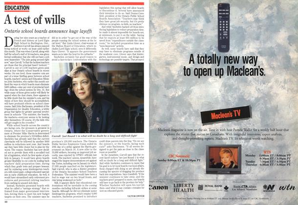 Article Preview: A test of wills, March 1996 | Maclean's
