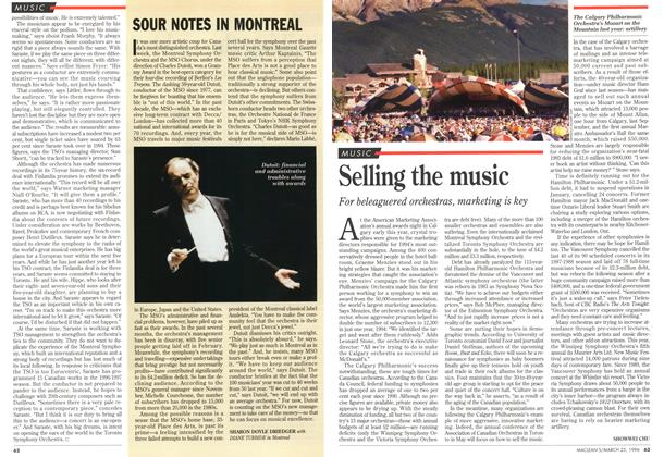 Article Preview: Selling the music, March 1996 | Maclean's