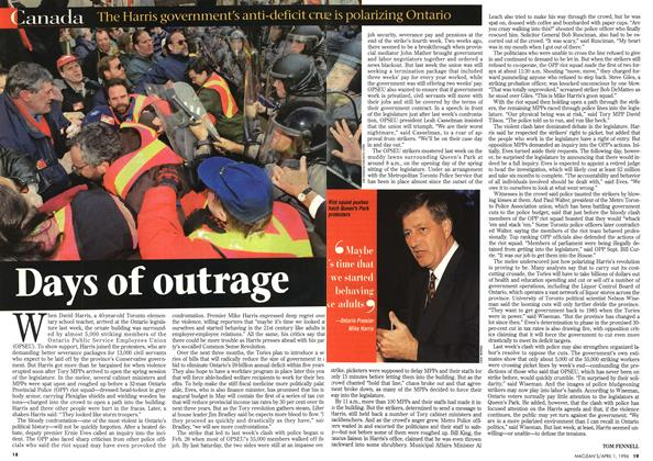 Article Preview: Days of outrage, April 1996 | Maclean's