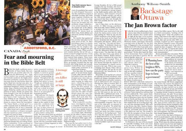 Article Preview: The Jan Brown factor, April 1996 | Maclean's