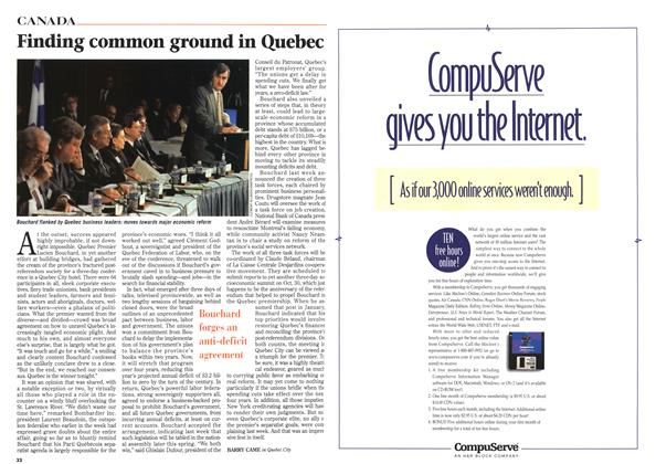 Article Preview: Finding common ground in Quebec, April 1996 | Maclean's