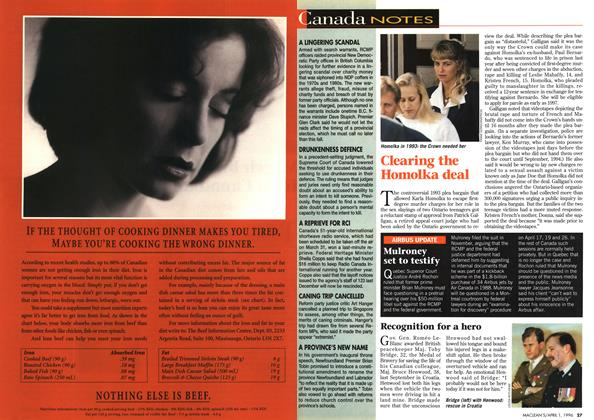 Article Preview: Canada NOTES, April 1996   Maclean's