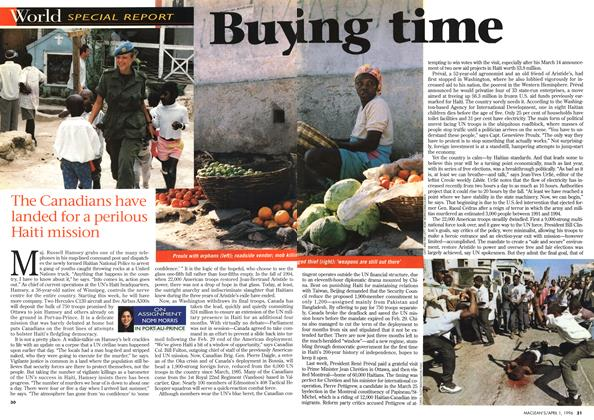 Article Preview: Buy ing time, April 1996 | Maclean's