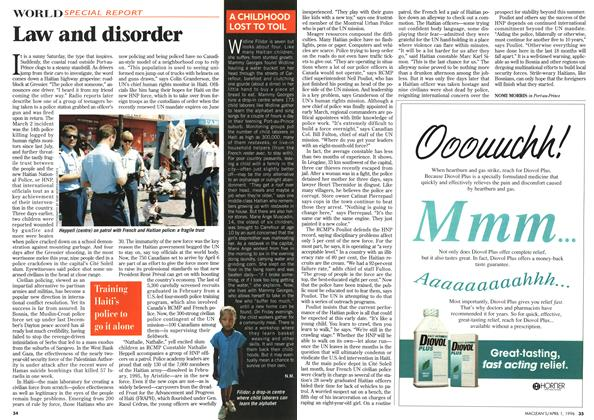 Article Preview: Law and disorder, April 1996 | Maclean's