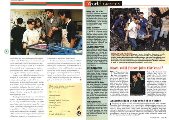 Article Preview: World NOTES, April 1996 | Maclean's