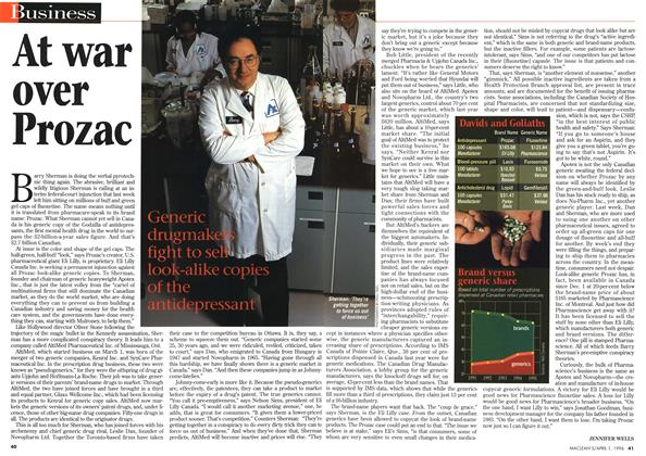 Article Preview: At war over Prozac, April 1996 | Maclean's