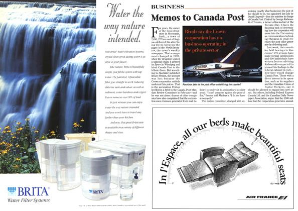 Article Preview: Memos to Canada Post, April 1996 | Maclean's