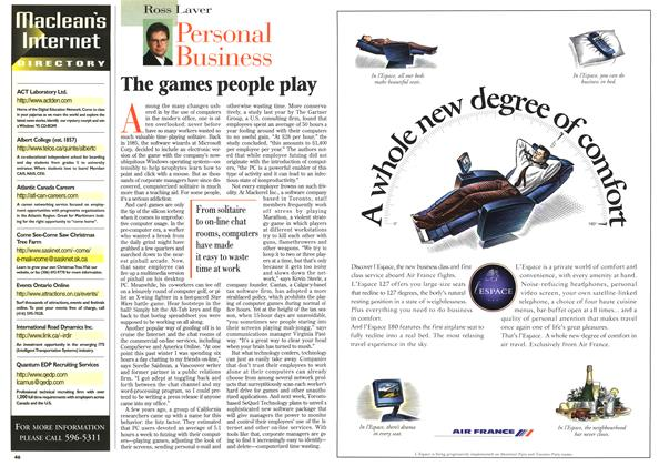 Article Preview: The games people play, April 1996 | Maclean's
