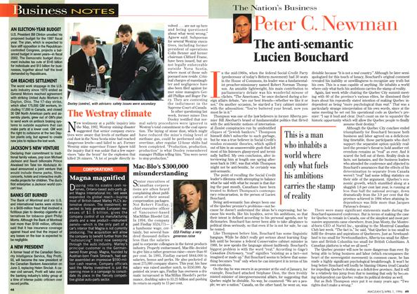 Article Preview: Business NOTES, April 1996 | Maclean's